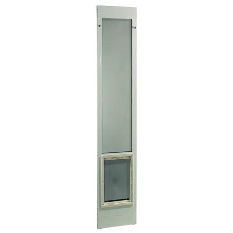 Ideal Patio Pet Door Ideal Pet Fast Fit Pet Patio Door Large White Frame 75 To 77 3 4 Inches
