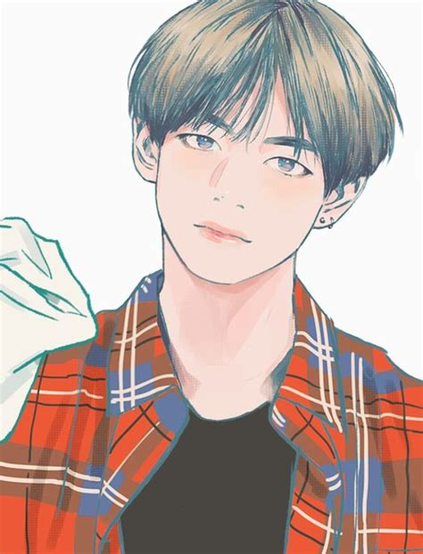 kim taehyung anime v taehyung fanart random k idols bts art