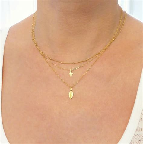 layered necklace set gold layered necklace set 3 layer
