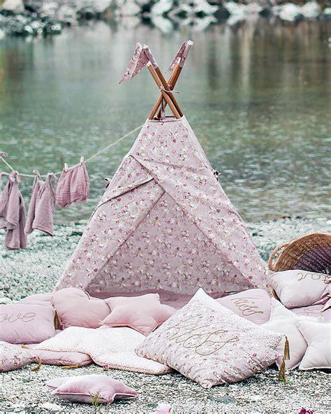 Tende Rosa Antico by Numero 74 Tenda Tipi Rosa Antico Con Fiori Cotone