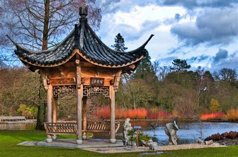The New Small House the japanese pagoda at the rhs wisley gardens in surrey