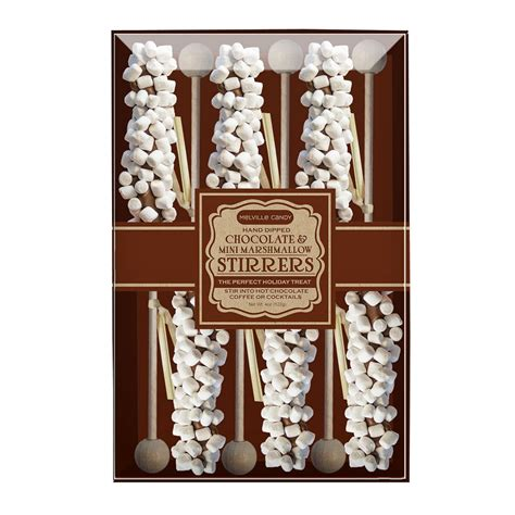 Mini Marshmallow Chocolate Stirrers by Melville Candy