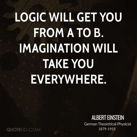 Quote About Quote Quot Logic Will Get You From A To B - albert einstein imagination quotes quotehd