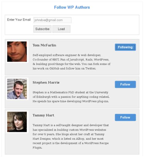 wordpress tutorial tutsplus simple wordpress plugin to follow your favorite authors