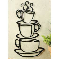 Coffee Wall Decor coffee house black cup design java silhouette wall