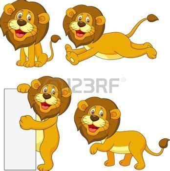 imagenes de leones kawaii safari bebe le 243 n lindo set de dibujos animados vectores