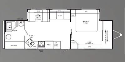 holiday rambler floor plans 2009 holiday rambler savoy lx series m 32rbs specs and