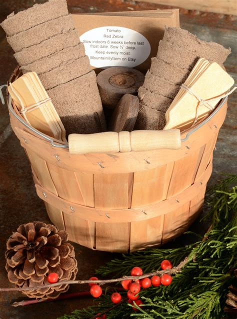 heirloom vegetable seed gift basket  varieties