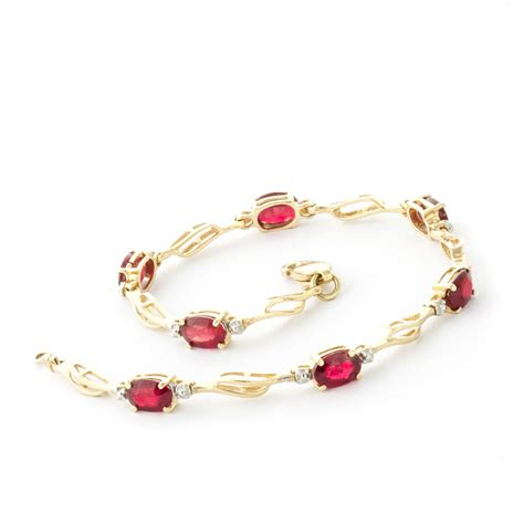 Ruby 4 9ct ruby and classic tennis bracelet 4 2ctw in 9ct