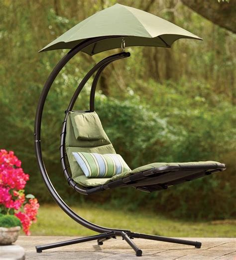 floating lounge chair with umbrella hello comfort the chair suspended lounger cradles