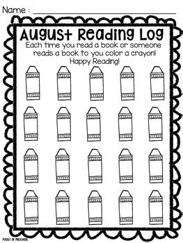 printable january reading log reading log for preschool pre k and kindergarten by