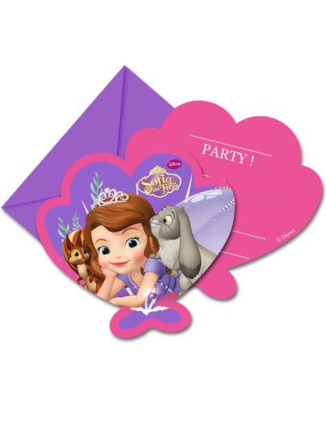 cartes dinvitation avec enveloppes princesse sofia