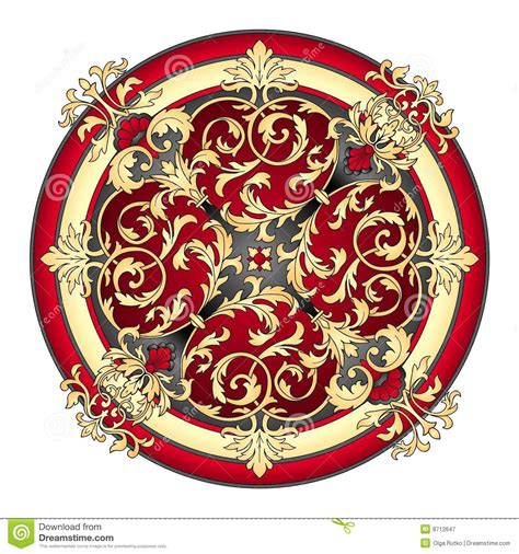 red and gold eastern ornament vector stock vector image