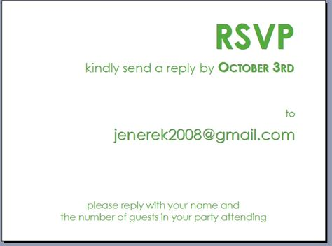 How To Email A Gift Card - how to respond to a rsvp via email party invitations ideas