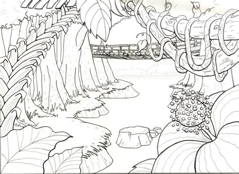 jungle background coloring pages free coloring pages