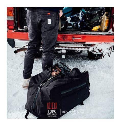 Tas Ransel Mountaineering 60l Ombg24bk topo designs mountain duffle rood de ideale haul tas voor je gear