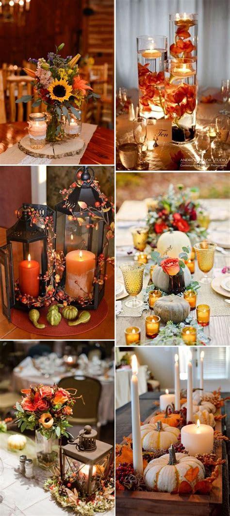 fall wedding table decorations 46 inspirational fall autumn wedding centerpieces ideas