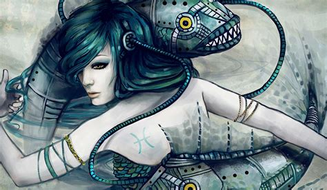 pisces the dancing dreamers of the deep by techgnotic on