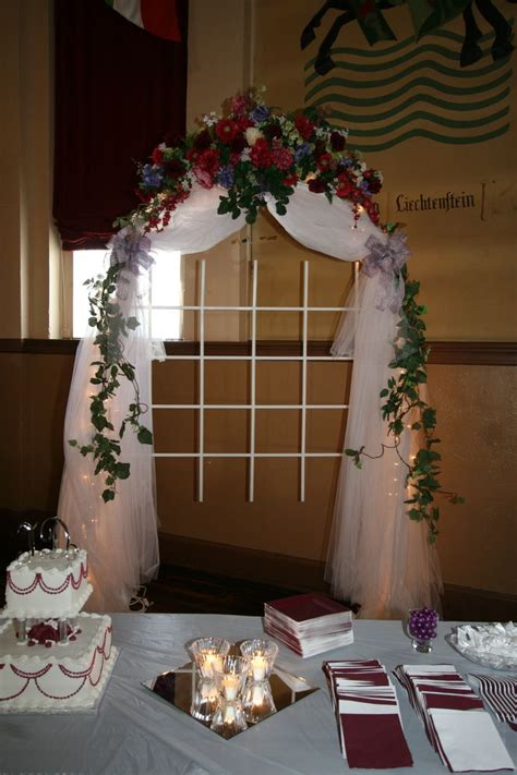 Wedding Arch Cheap by Wedding Arches Stabilize A Cheap Wedding Arch Loaded With