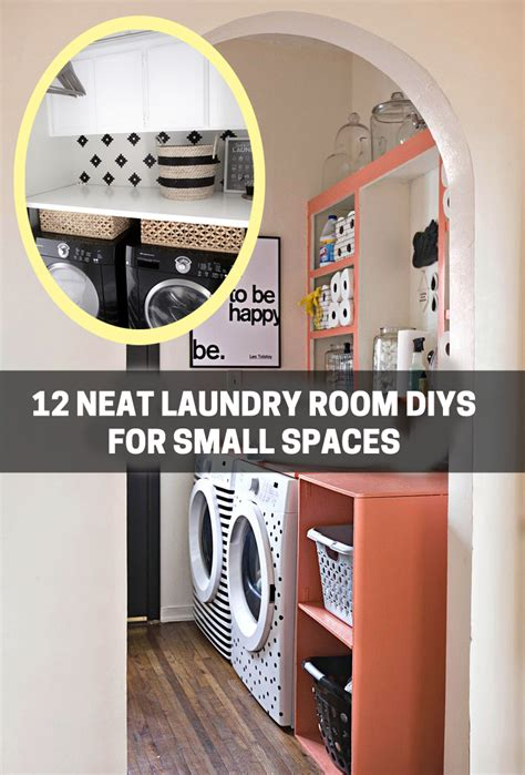 laundry for small spaces 12 neat laundry room diys for small spaces on bhg