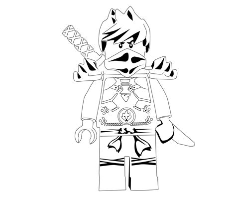 lego ninjago coloring pages kai dx lego ninjago kai ninja with sword coloring page