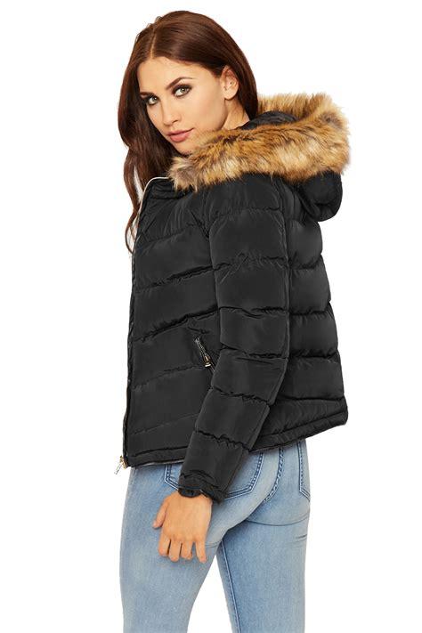 Longslevee Parka womens puffa parka coat jacket sleeve faux fur
