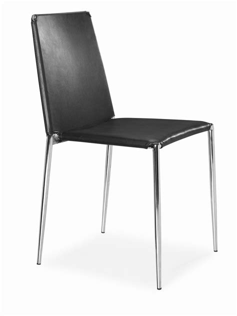 Dining Chairs For Less Zuo Modern Alex Dining Chair Black Zm 101105 At Homelement