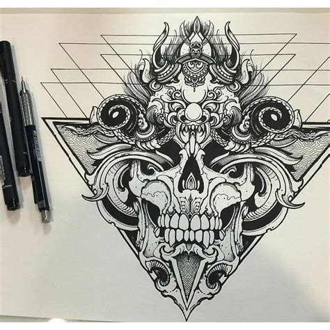 established tattoos designs morphing skull mandala created by our sullenfamily orge