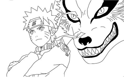 fox tail coloring page free printable naruto coloring pages