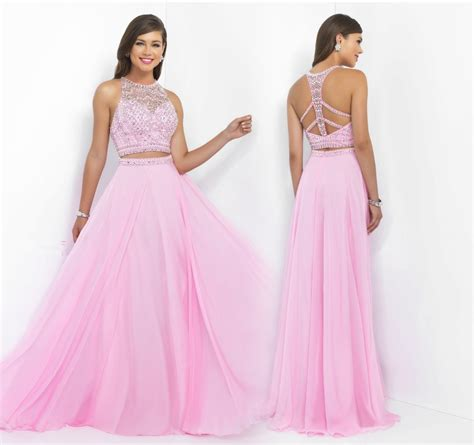2 piece prom dresses for sale new popular 2 piece prom dresses pink two pieces prom