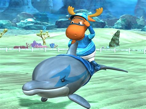image the backyardigans dolphin racer tyrone with blue