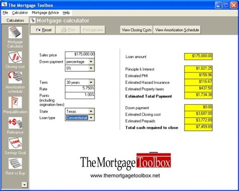 mortgage calculator with taxes and insurance va