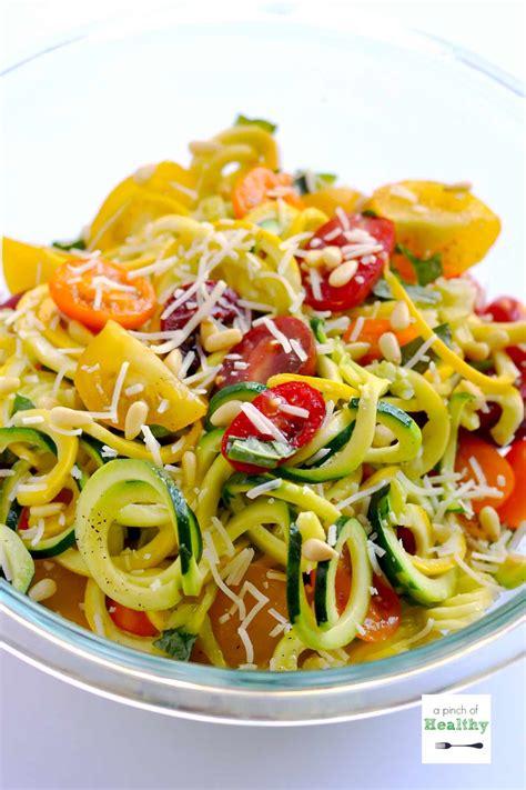printable spiralizer recipes garlic parmesan zoodles spiralizer recipe a pinch of