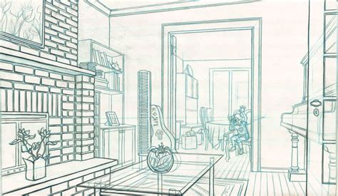 room drawing room line drawing 2 by paraguaydraw on deviantart