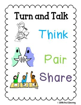 think pair poster freebie by bird learning tpt