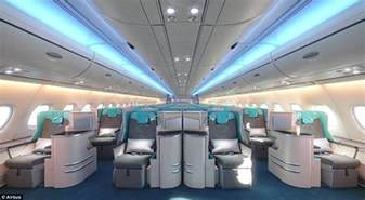 A380 Plane Interior by Airbus Plans To Install More Seats On The A380 Daily