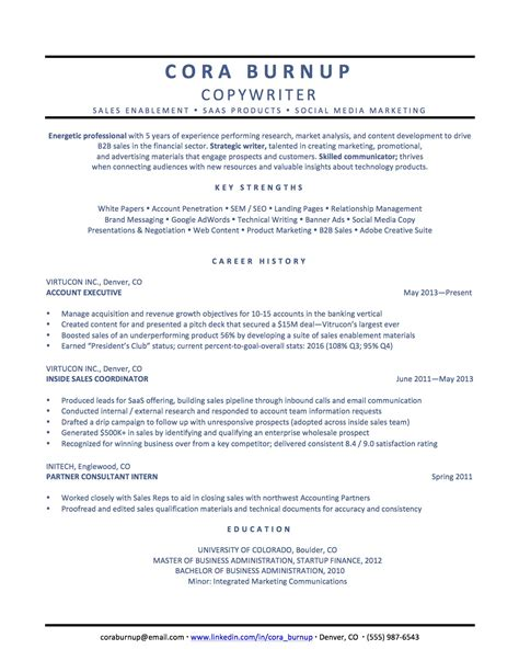 Copywriter Resume Sles by How To Spin Your Resume For A Career Change The Muse