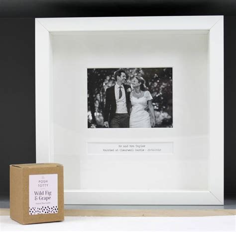 personalised wedding day frame by posh totty designs
