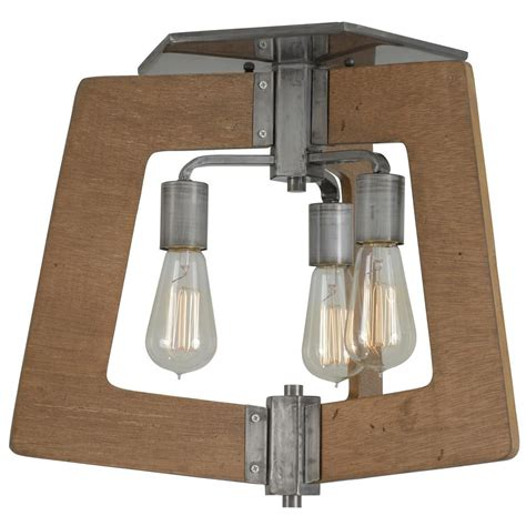 varaluz lofty 4 light varaluz lofty 3 light wheat and steel semi flushmount