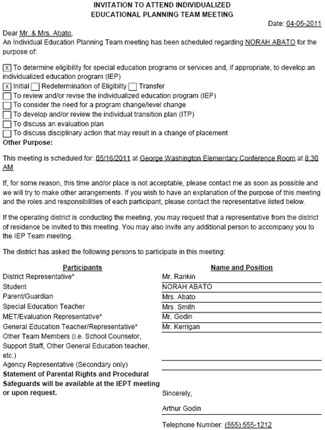 Invitation Letter To Iep Meeting print an iep invitation illuminate education
