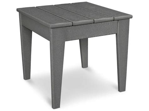 Plastic Side Table Polywood 174 Modern Recycled Plastic 18 25 Square Side Table Mnt18