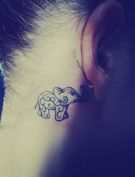 henna tattoo designs behind ear 17 best ideas about elephant tattoos on
