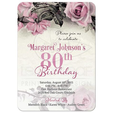 80th birthday invitation template 80th birthday invitations invitations templates