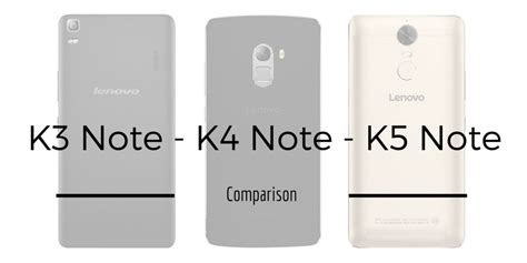 Lenovo K4 Note Vs Lenovo K5 Note Lenovo K3 Note Vs Lenovo K4 Note Vs Lenovo K5 Note