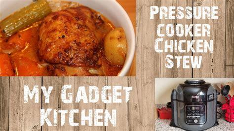 ninja foodi qt pressure cooker chicken stew  gadget