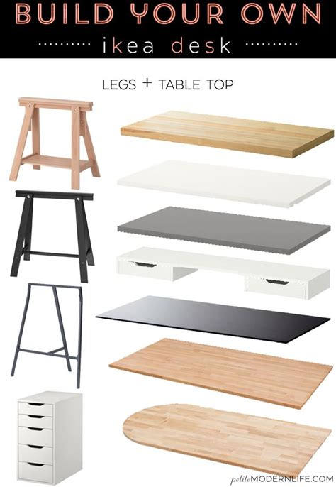 how to build your own desk build your own ikea desk diy desks modern