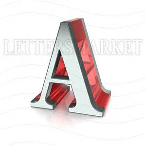 Home Design Games Free Online 3d 3d Chromed Letter A Isolated On A White Background