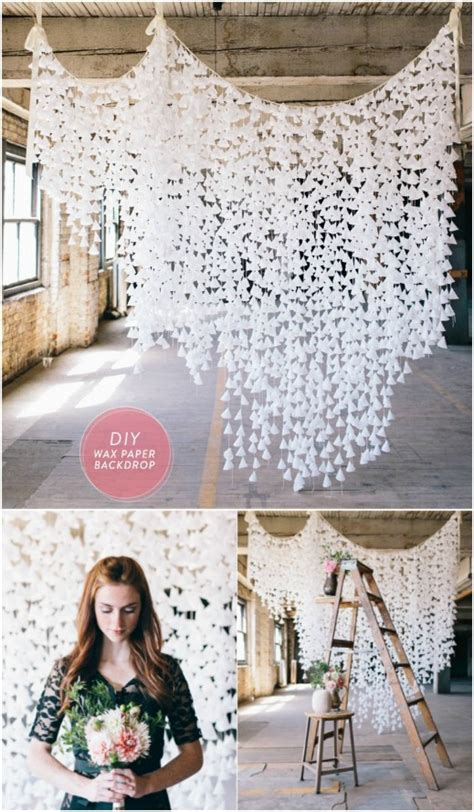 wedding backdrop wax paper 35 breathtaking diy rustic wedding decorations for the