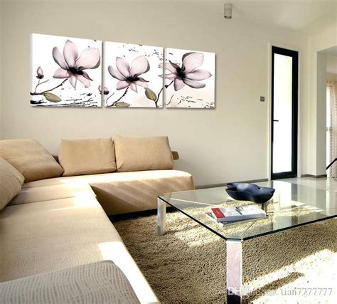 Lotus Kanvas 40x40 home decor lotus canvas painting fashion wall painted on canvas frameless painting hd