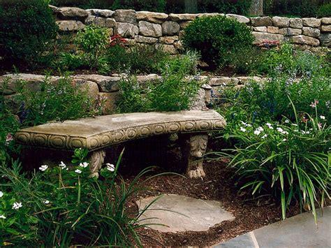 natural stone benches for garden garden art land art design